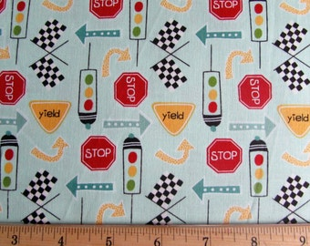 Per Yard, On Our Way Fabric Mint Green By Riley Blake