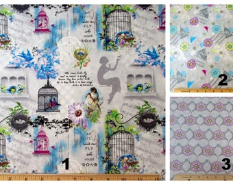 Song Birds Fabric 3 Fat Quarter Bundle From SPX 562