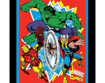Marvel Fabric Retro Comic Panel From Springs Creative Sold By the Panel