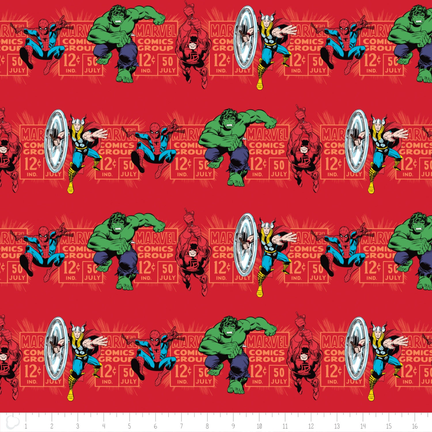 Marvel Fabric Marvel Comic 3 Fabric Price And Hero In Red