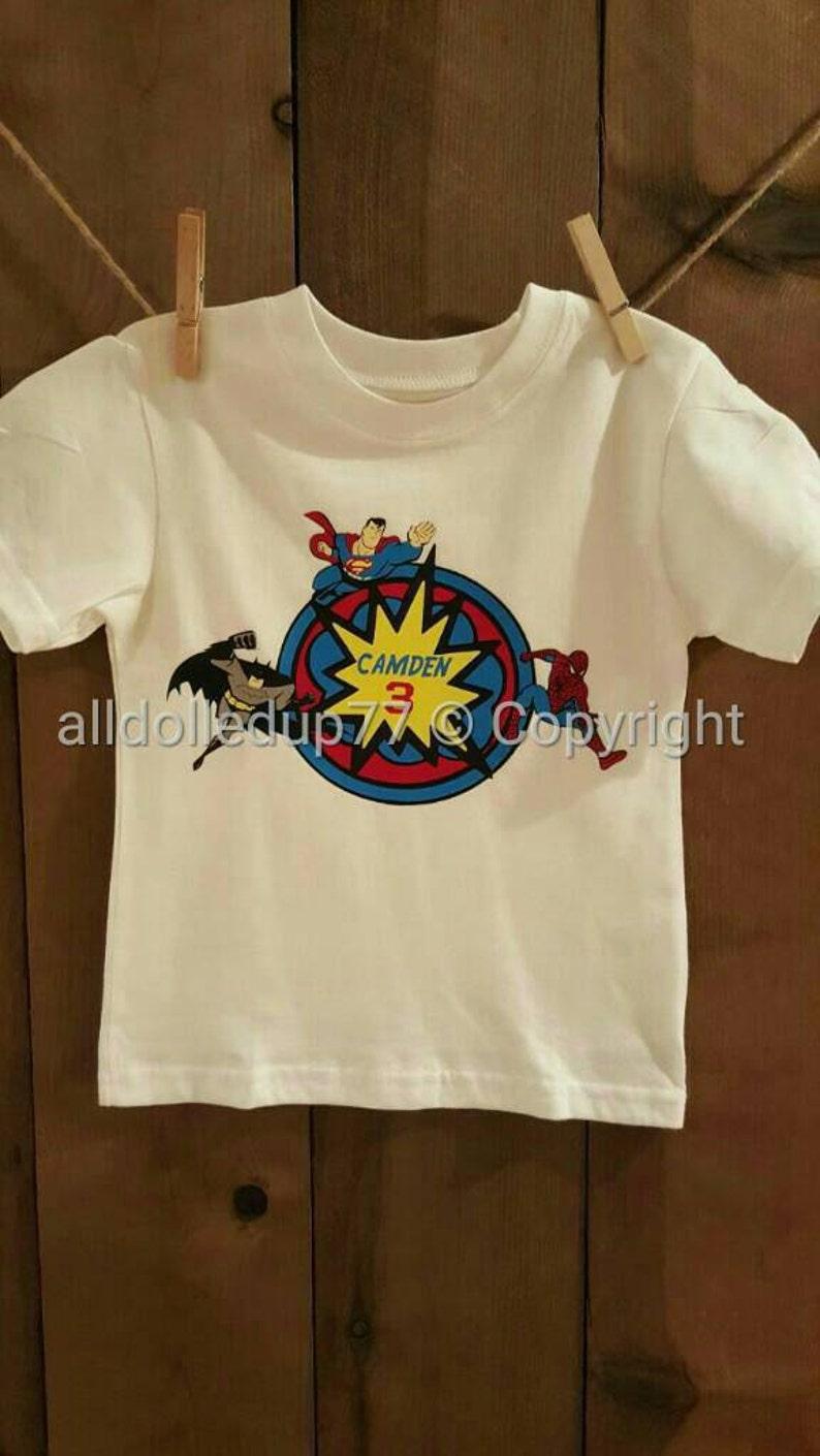 Personalized Superhero Birthday Shirt Custom Themed
