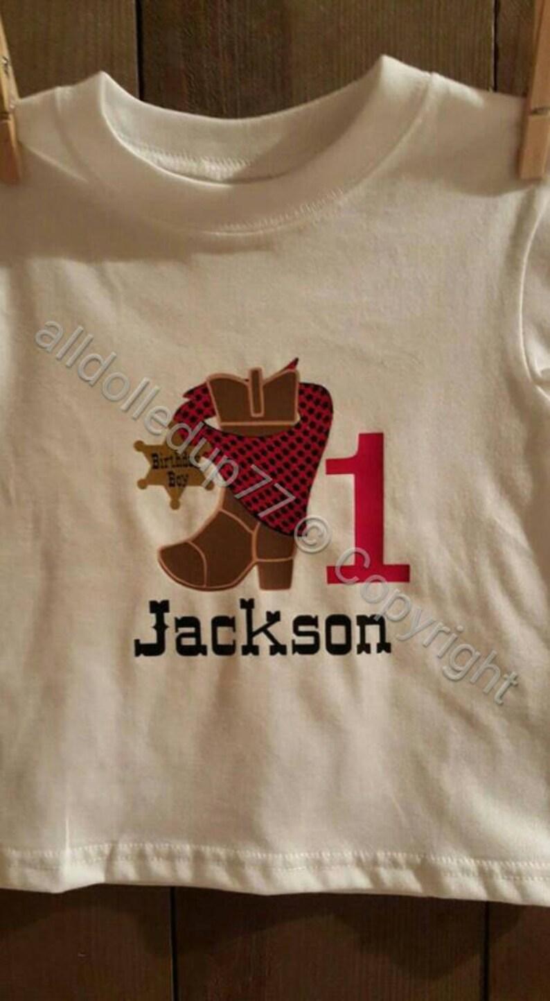 1e39aa9c0 1st birthday shirt cowboy theme. Boys First bday shirt.   Etsy