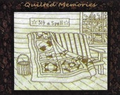 Quilted Memories - Sit a Spell - Redwork Hand Embroidery Pattern by Beth Ritter - Instant Digital Download