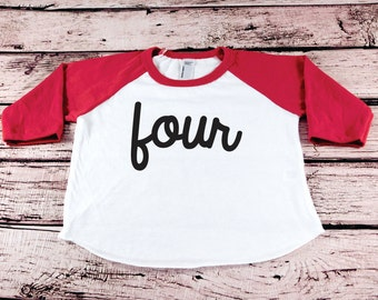 4th Birthday Boy Outfit Shirt Party Four Toddler