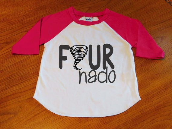 4th Birthday Shirt Fournado Toddler Boy
