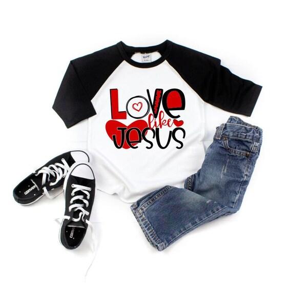 940562941 Valentines Day Shirt Love Like Jesus Religious Valentines   Etsy