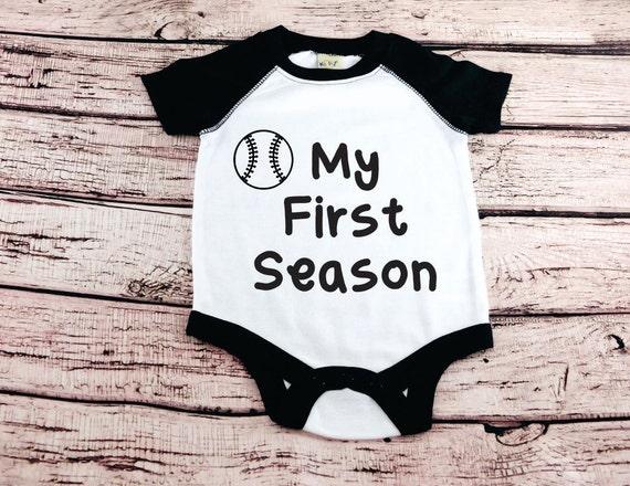 909bcf7a59cb Baby Boy Clothes My First Season Baseball Boy Bodysuit infant