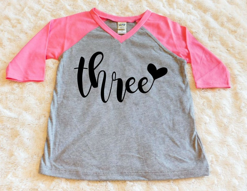 Third Birthday Shirt Toddler Girl 3rd
