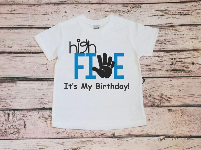 High Five Its My Birthday Toddler Shirt 5th Boy