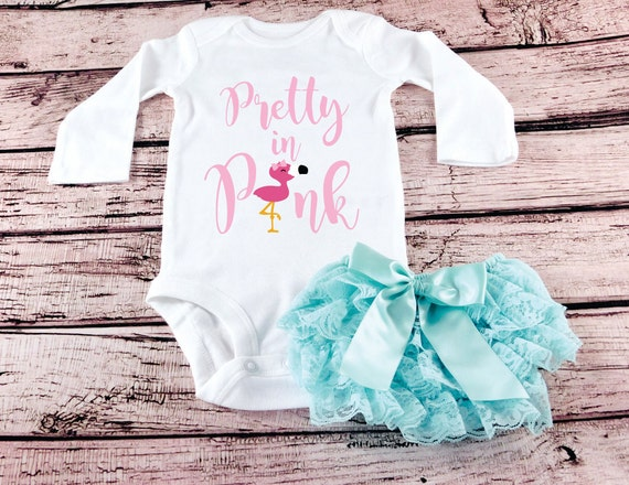 d3aef6cf0438 Baby Girls Clothes Pretty In Pink Flamingo Bodysuit New Baby