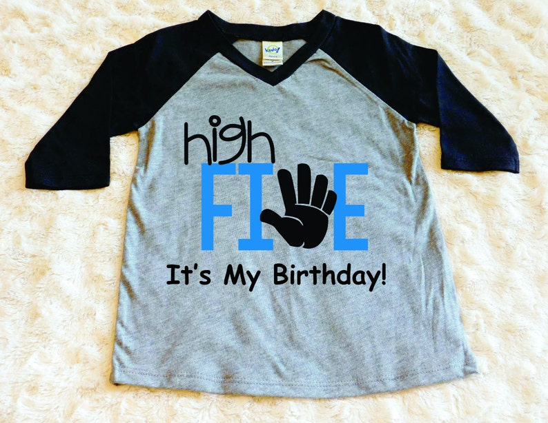High Five Its My Birthday Toddler Shirt 5th Boy