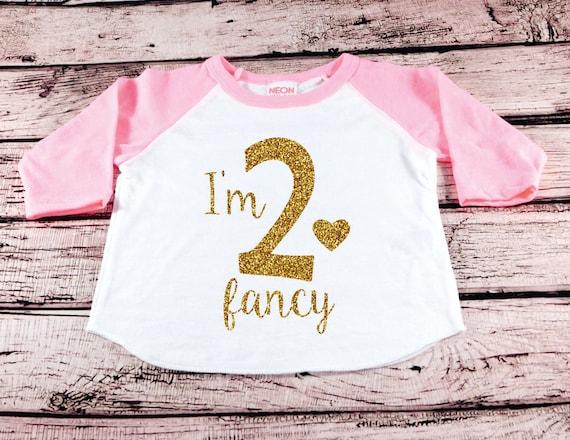 Im Two Fancy 2 2nd Birthday Shirt Baby