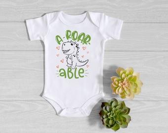 Dinosaur Baby Onesie® - A-Roar-Able Dinosaur Onesie® - Cute Baby Onesie® - Funny Baby Bodysuit - Baby Shower Gift - Baby Boy Gift