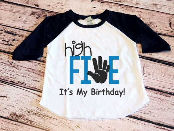 5th Birthday Shirt High Five Its My Toddler