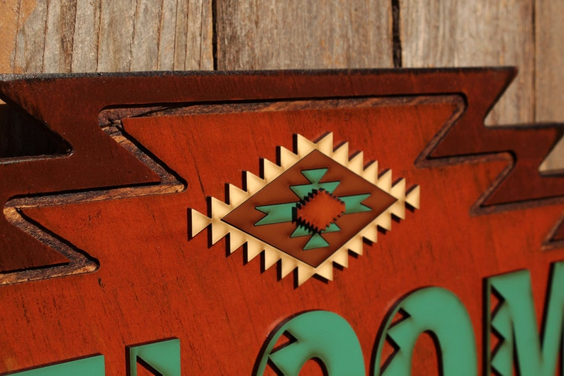 Rustic Welcome Sign Southwestern Welcome Western Welcome Sign Western Decor Southwest Welcome Tribal Decor Southwestern Sign Southwest Decor