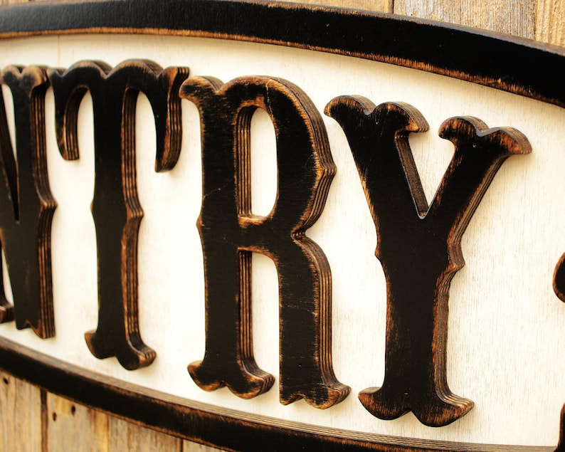 Kitchen Wall Decor Rustic Pantry Sign Vintage Pantry Sign