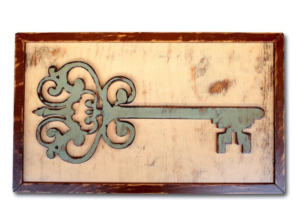 Fine Large Wooden Key Wall Decor Embellishment - Art & Wall Decor ...