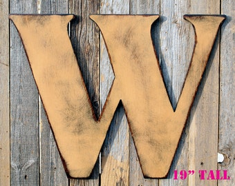 Large Letter Wood Letters Distressed Letter Capital Letter Giant Wood Letter Large Initial Wall Letter Large Wooden Letters Monogram Letter