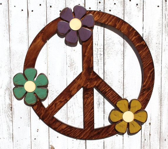 Peace Sign Wall Art Peace Sign Decor Gypsy Wedding Gypsy Boho Bed Decor  Hippie Bed Decor Hippie Wedding Boho Decor Bedroom Gypsy Decorating