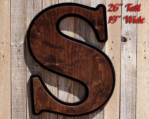 Large Rustic Letters Wooden Monogram Wood Entryway Sign Big Wooden Letter Giant Wood Letter Big Letters Big Wood Letter Large Wooden Letter