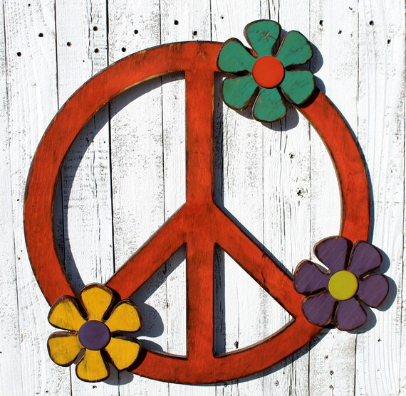 Peace Sign Decor Peace Sign Wall Art Gypsy Wedding Gypsy
