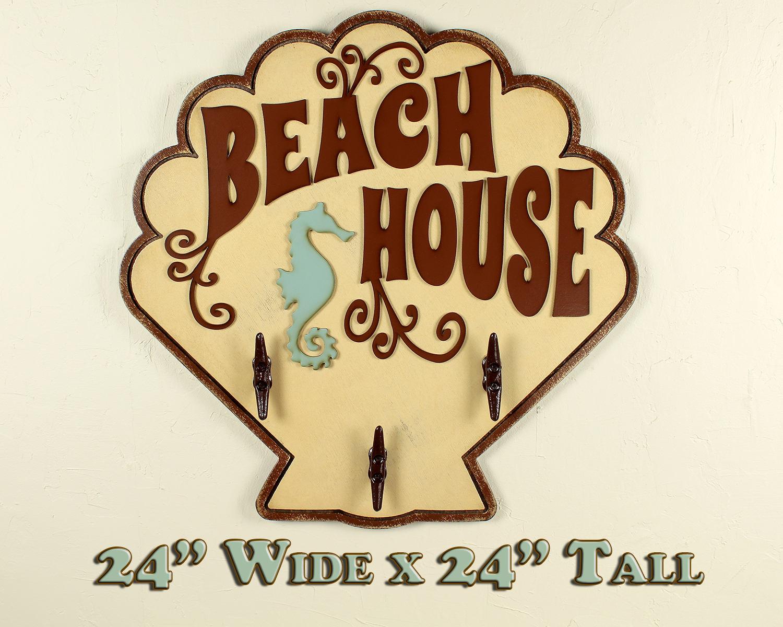 Beach Towel Rack Beach Bathroom Decor Beach Wall Art Ocean | Etsy