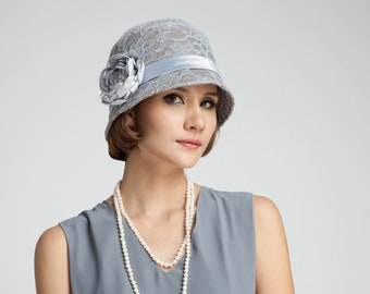 cfe5e6aa3fe Great Gatsby hat with cotton and lace