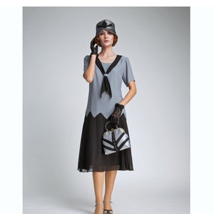 1920s Day Dresses, Tea Dresses, Mature Dresses with Sleeves v $130.00 AT vintagedancer.com