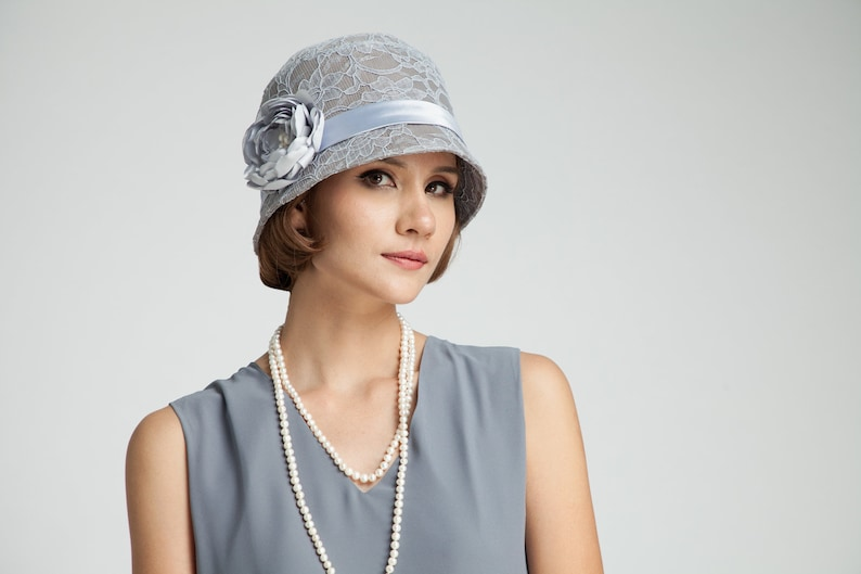 1920s Style Hats Great Gatsby hat with cotton and lace $115.00 AT vintagedancer.com