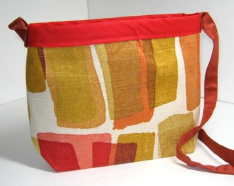 Orange Green Rust Cream Sage Red Purse Handbag