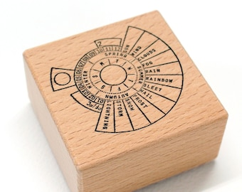 Rubber stamp - Perpetual weather circle, perpetual calendar stamp, perpetual stamp, perpetual calendar, calendar stamp, planner stamp