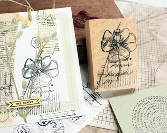 Rubberstamp - Abstract floral No.14
