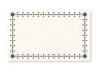 """Notecards, Cards, Memo Cards, Label, Frame, Journal cards, Planner cards - Antique/Vintage frame """"corner flower"""" x 25"""