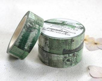 0,60 EUR per m / Washi Tape, Decoration tape, Washitape - Green Ephemera