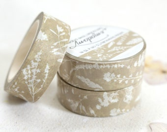 0,60 EUR per m / Washi Tape, Decoration tape, Washitape - White Botanicals