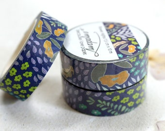 0,60 EUR per m / Washi Tape, Decoration tape, Washitape - Flower Nights