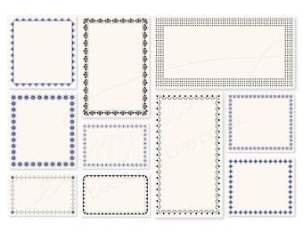 Big Note Card Set, 250 pieces, Vintage border