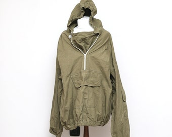 9860ca5ec15 Vintage 1970 s Military Green Canvas Anorak