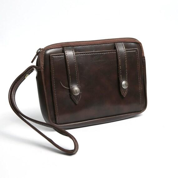 Rustikale Herren Jahrgang Leder Bote Satchel Mann Handtasche Laptop Aktentasche