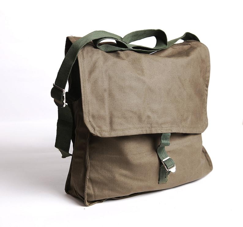 6f5a34e199 School bag military canvas messenger bag vintage school