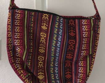30c648540a01 vintage southwestern geometric boho bohemian cloth purse sack colors  hipster strap shoulder bag shoulder