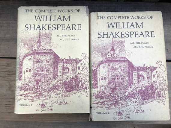 Set Of 2 William Shakespeare Complete Work Tragedies Comedies Etsy