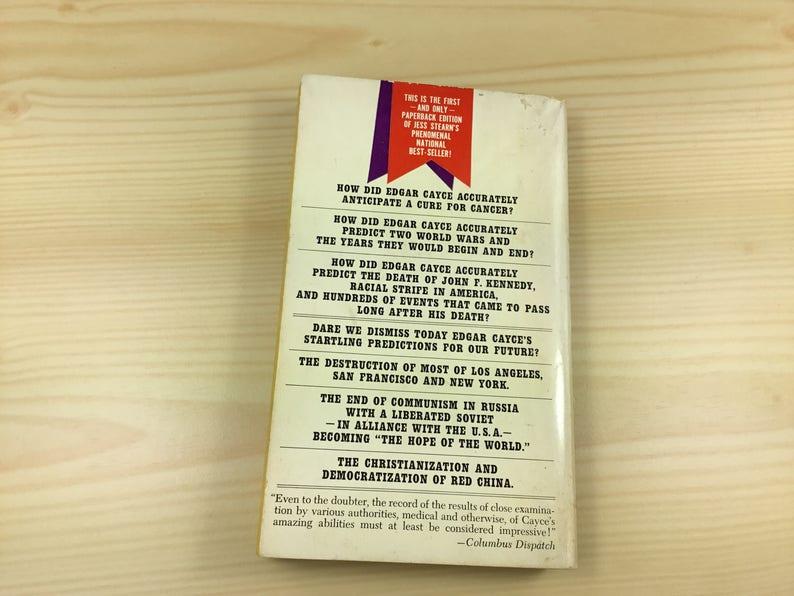 edgar cayce the sleeping prophet paperback book used vintage 1967 1968 jess  stearn
