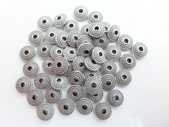 25 un Mariposa de Metal Espaciador Perlas Joyas De Plata Antigua 10x8mm-B0102070