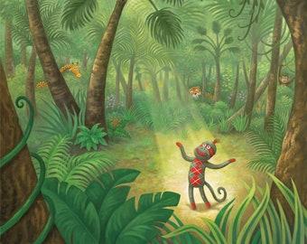Fine Art Print for Children / Argyle in the Jungle