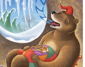 Fine Art Print for Children/ Winter's Nap