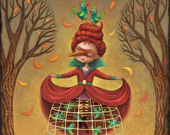 Fine Art Print for Children /The Bird Princess