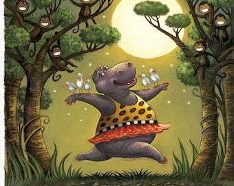 Fine Art Print for Children / Moon Dance