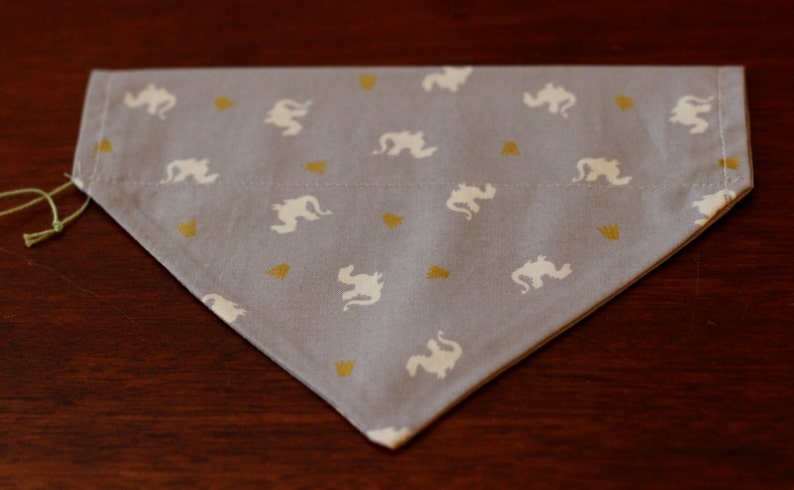 collar style bandana in a variety of Holiday designs Dog over-the