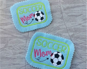 cfc5a95df79 Soccer Mom Hat PATCH - 2 Sizes - DIGITAL Embroidery Design